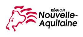 logo officiel de la région Nouvelle-Aquitaine, partenaire institutionnel de l'organisme de formation Les 13 Vents-EIMCL (Tulle, Corrèze)