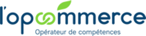 logo OPCOMMERCE (Opérateur de Compétences), partenaire professionnel de l'organisme de formation Les 13 Vents-EIMCL (Tulle, Corrèze)