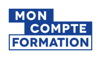 "logo CPF ""Mon Compte Formation"" qui redirige vers le site gouvernemental moncompteformation.gouv.fr"