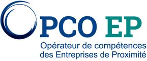 logo OPCO EP (Opérateur de Compétences des Entreprises de Proximité), partenaire professionnel de l'organisme de formation Les 13 Vents-EIMCL (Tulle, Corrèze)
